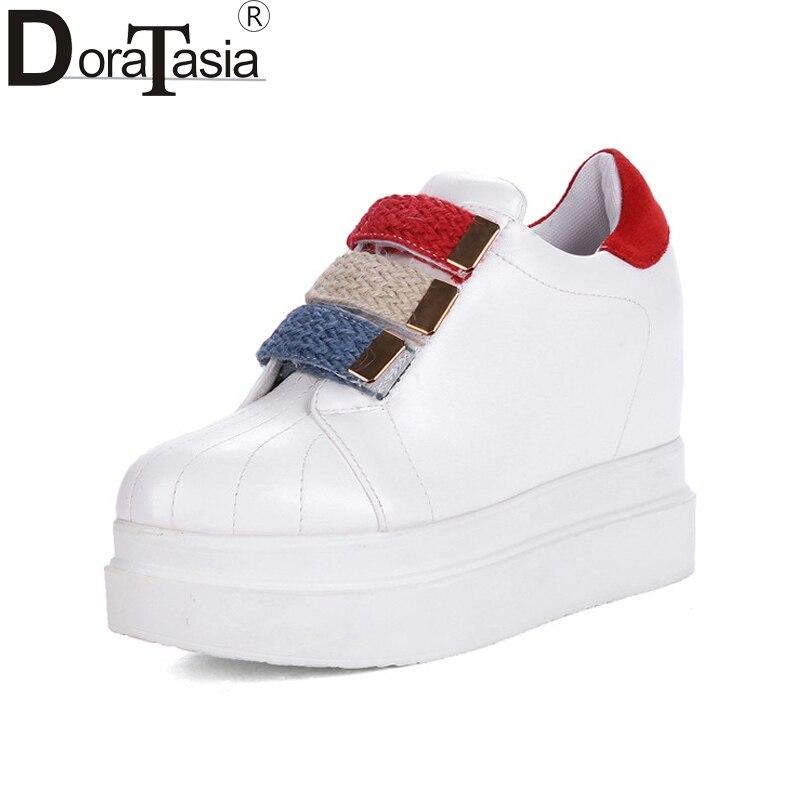 Casual Sneakers forme Qualité 42 Regard Mode Crochet Nouvelles Appartements Et blanc Taille Femmes Bonne Grande Le Femme Printemps Rond Noir 31 De Doratasia Plate Chaussures Bout 6TnFWW