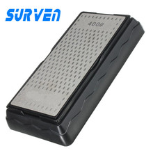 SURVEN Sharpener Double-Side Diamond Whetstone Knife Sharpening Stone Kitchen Chef Knife 400/1000 Grit Sharpening Grindstone