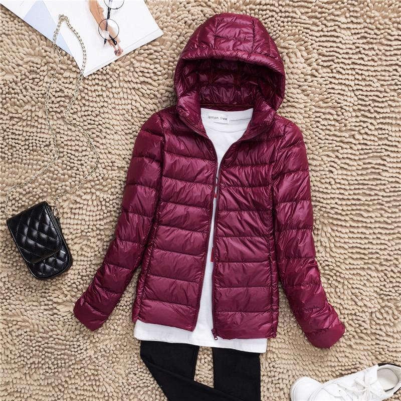 Plus Size S-7XL 90% White Duck Down Jacket Women Winter Women's Overcoat Female Ultra Light Autumn Hooded Down Coat Jackets 2018 1
