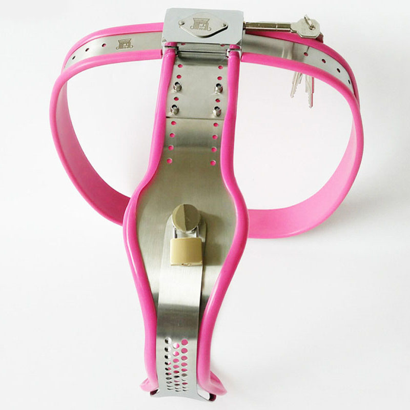 цена Female chastity panty bondage lock bdsm fetish wear stainless steel chastity belt device adult gaems Cosplay sex toys for ladys
