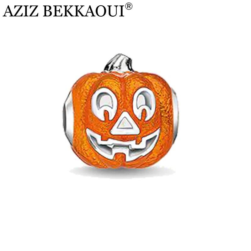 ̀ •́ Diseño único calabaza Halloween Amuletos DIY Cuentas joyería se ...