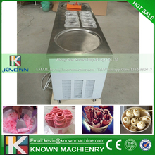 Ice Cream Roller rolling Rolled Flat fried ice cream machine double 2 pan ice cream roller machine Ice cream pan roller