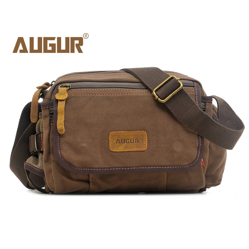 AUGUR New Men Messenger Bags Casual Multifunction Small Travel Bags Canvas Shoulder Military Crossbody Bags 8156 new vintage men messenger bags casual multifunction small flap travel bags canvas shoulder crossbody black bags hot sale
