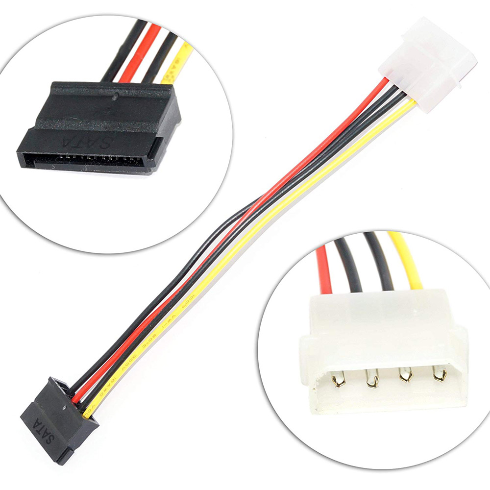 Ingelon Sata Power Cable Molex IDE to Serial ATA Power Adapter 4 Pin to 12 Pin Cable hard disk Sata to esata 6.9inch SSD Cable (5)