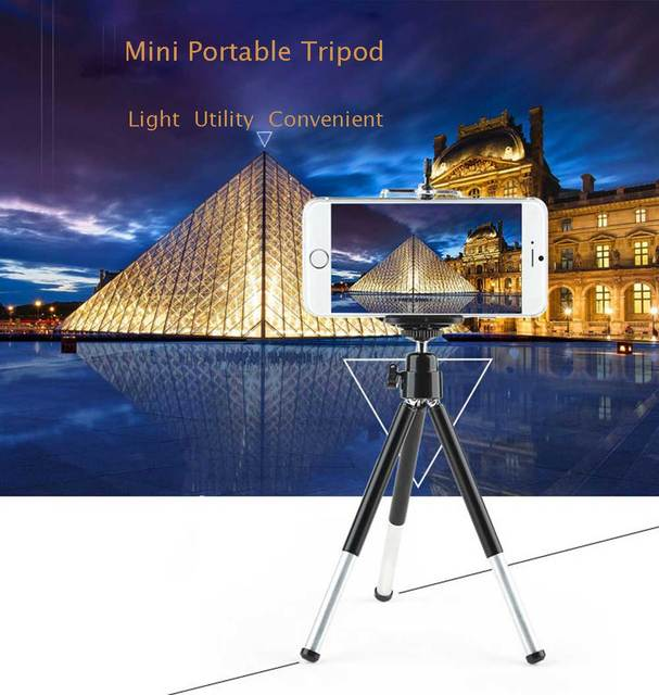 Rovtop Metal Mini Tripod With Phone Holder Remote For Iphone Xiaomi Samsung Android Retractable Tripod Tripod For Digital Camera