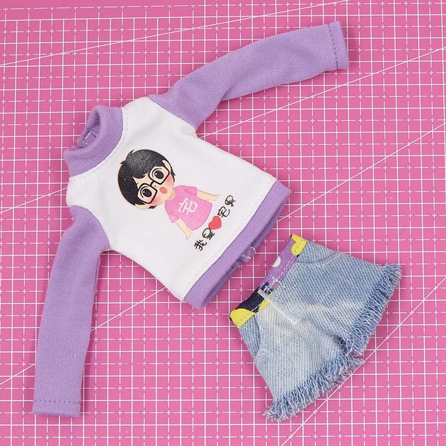 Neo Blythe Doll Casual Long Sleeve Dress