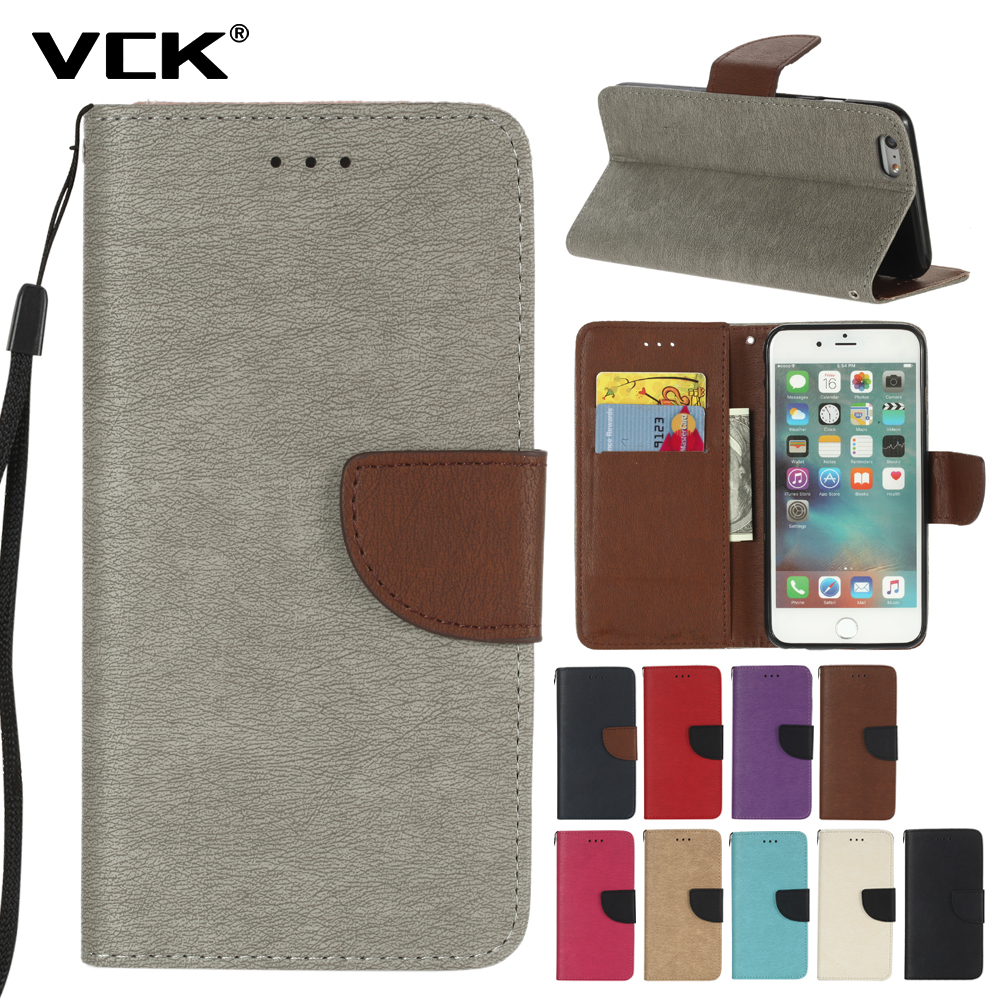 VCK For Asus Zenfone 3 Max ZC520TL ZC553KL Case Hit Color Series Leather Flip Card Slot Cover Bag