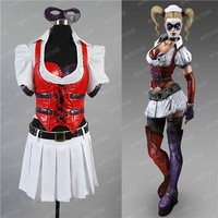Batman Arkham Asylum City Harley Quinn Dress Costume Suit Size Custom Made Any Size Anime Free Shipping NEW