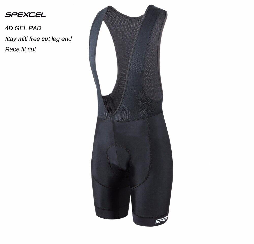 SPEXCEL haute qualité classique cuissard course vélo bas Ropa Ciclismo vélo pantalon 4D gel pad Italie Silicium pinces à jambe