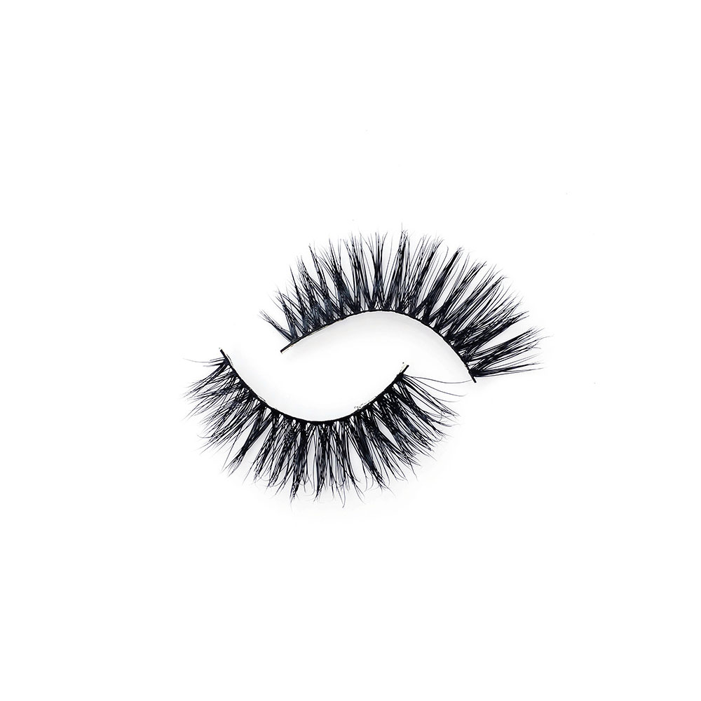 Hot New 1 Pair Handmade Mink Hair 3D False Eyelashes Natural Crisscross Thick Long Extension Sexy Women Makeup D-24