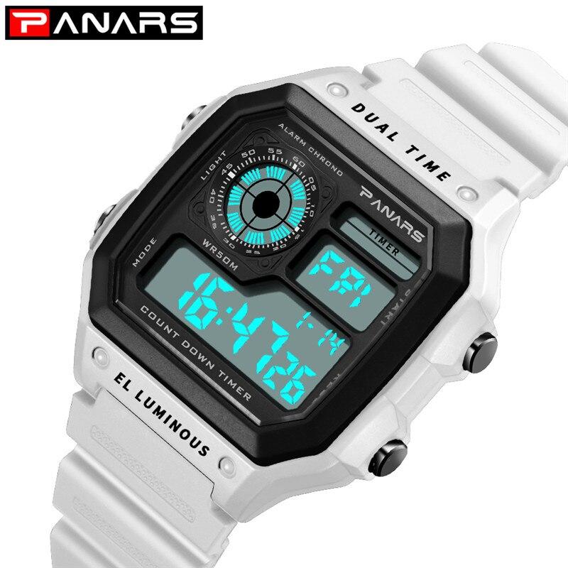Women Sport Watch Relogio Feiminino Digital Led Wrist Watch Electronic Ladies Rubber 50m Waterproof Fitness White Watch For Girl