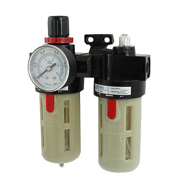 1/4 PT Port Pneumatic Filter Regulator Air Source Treatment Unit w Gauge BFR-2000 schwarzkopf лак для волос сильной фиксации schwarzkopf osis freeze 1918571 500 мл