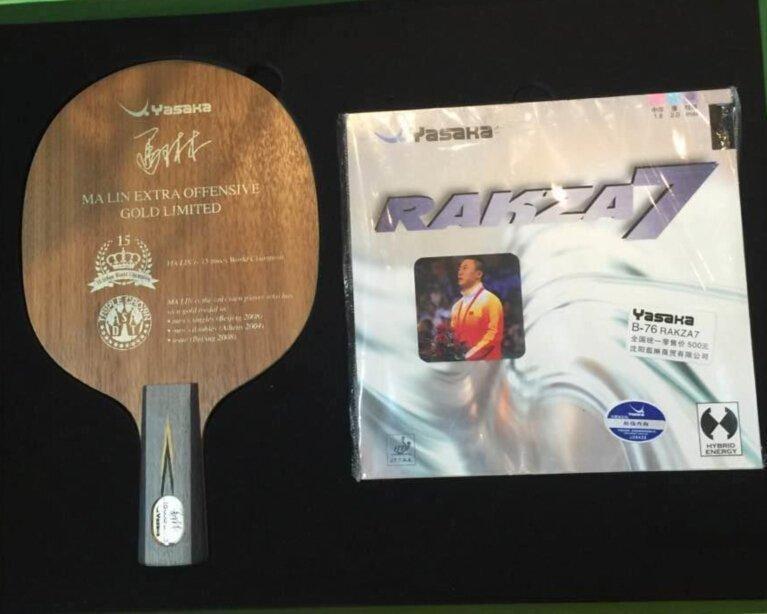 Commemorative edition YASAKA Ma Lin YEO table tennis racket Global limit радиоуправляемый самолет art tech p 51d gunfighter commemorative edition epo 2 4g 21088