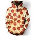 Harajuku С Капюшоном Толстовка Женщины Мужчины Пицца Пепперони/Гамбургер/Пончики 3D Толстовка Верхняя Одежда Пуловер печати пищевой перемычки