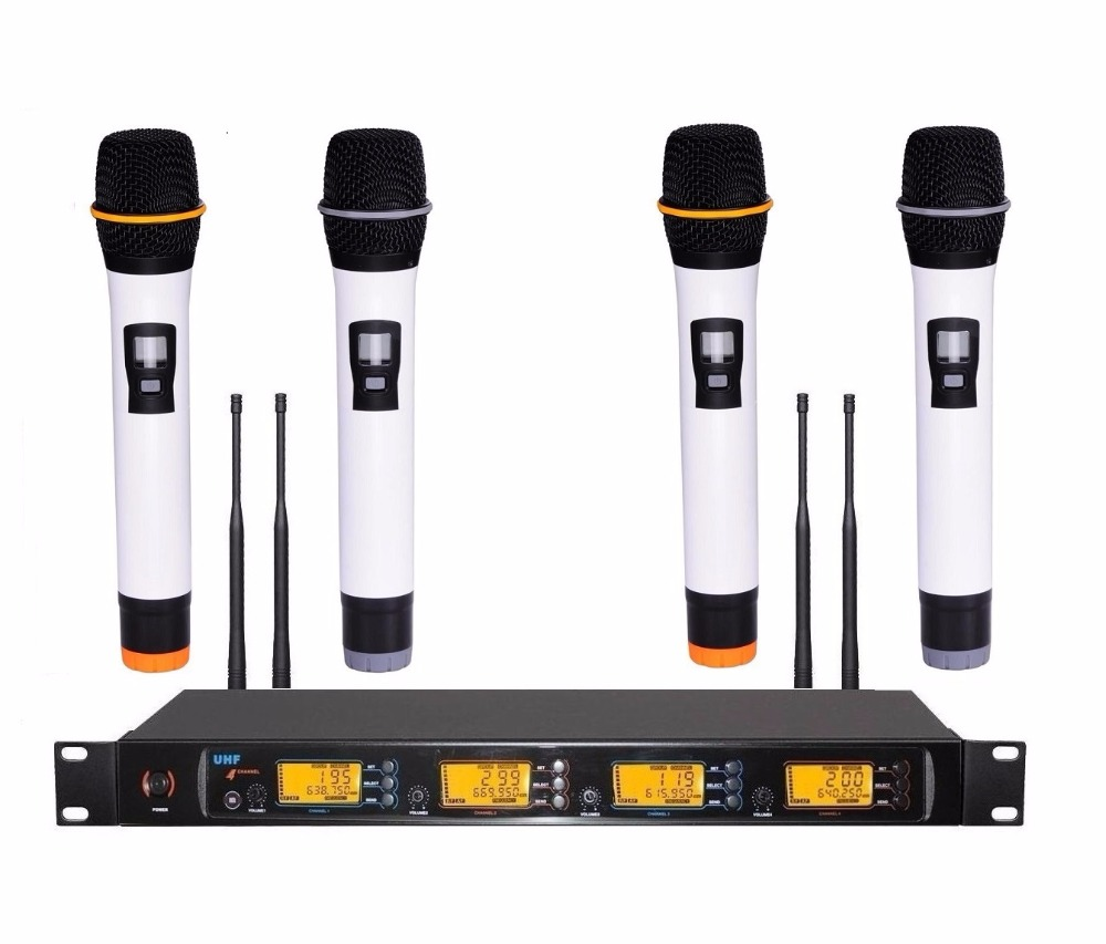 professional 4x100 channels uhf wireless handheld microphone system for teacher in microphones. Black Bedroom Furniture Sets. Home Design Ideas
