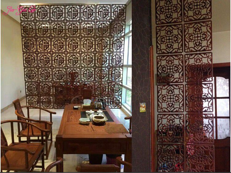Online get cheap wooden room dividers for Wooden partition wall designs living room