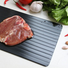 Magic Fast Unfreezing Of food Thawing Tray Meat Rib Defrosting Board Defrost Food In Minutes Aluminum Frozen Food Kitchen Tool
