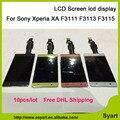 10 pçs/lote dhl livre pantalla lcd para sony xperia xa f3111 f3113 f3115 lcd screen display + assembléia digitador de vidro touchscreen