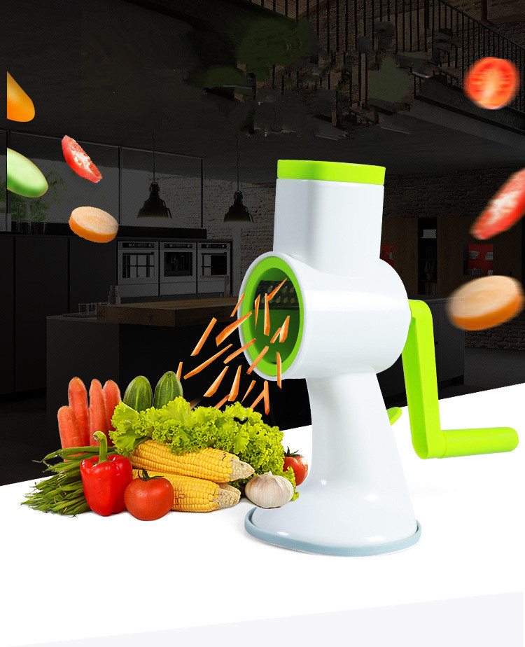 1 StÜck Manuelle Hand Rotary Mandolinenschneider, Gemüse Käse Cutter Slicer Schredder Mühle Mit Edelstahl Klinge Ok 0522 NüTzlich FüR äTherisches Medulla