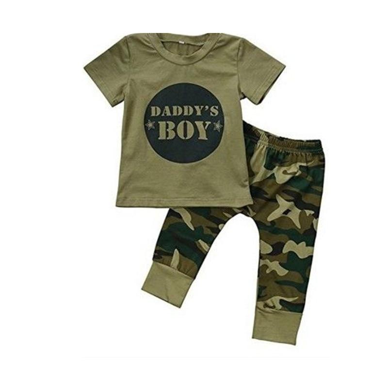 Lettre camouflage pour papa garçon 0-2 ans | 2 pièces