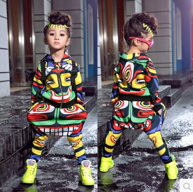 fashion maya children's clothing set dance wear Costumes Jamaica Totem kids sport suits Hip Hop harem pants & sweatshirt - Hiphop Dance's Club store