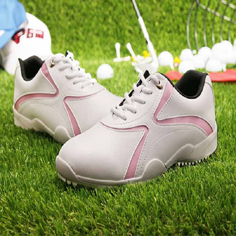Womens Pgm Golf Shoes Waterproof Breathable Training Sneakers Woman Lghtweight Anti skid Sports Athletics Shoes B1339