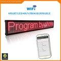 40 Inch Wifi беспроводной пульт дистанционного Программируемый Реклама СВЕТОДИОДНЫЙ Дисплей Доска, яркий Красный светодиод знак для Бизнеса и Магазин