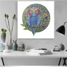 Huacan Special Shaped Diamond Painting Animal Picture Of Rhinestone Mosaic Diy Craft Diamond Embroidery Owl 44x44cm(China)