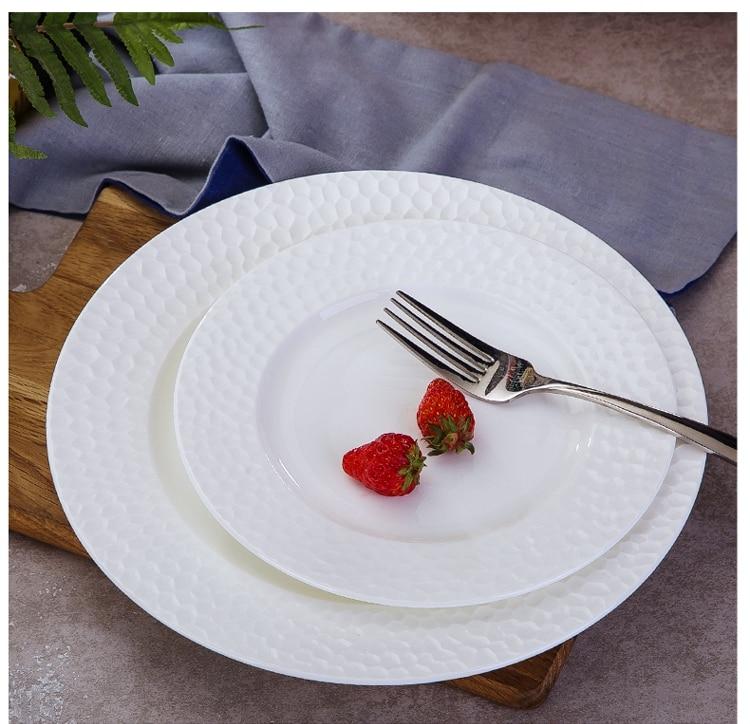 10 inch plain white bone china serving platter creative e 3D water design & 10 inch plain white bone china serving platter creative e 3D water ...