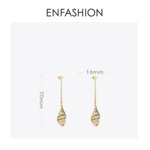 Image 4 - Enfashion 빈티지 자연 조가비 귀걸이 골드 컬러 Boho Earings 여성 패션 쥬얼리 Boucle d oreille Femme 2020 EM191011