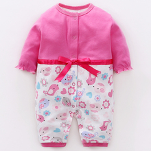 YiErYing Baby Jumpsuits Spring Autumn Newborn Soft Warm Long Sleeved 100%cotton Lovely Stripe Romper