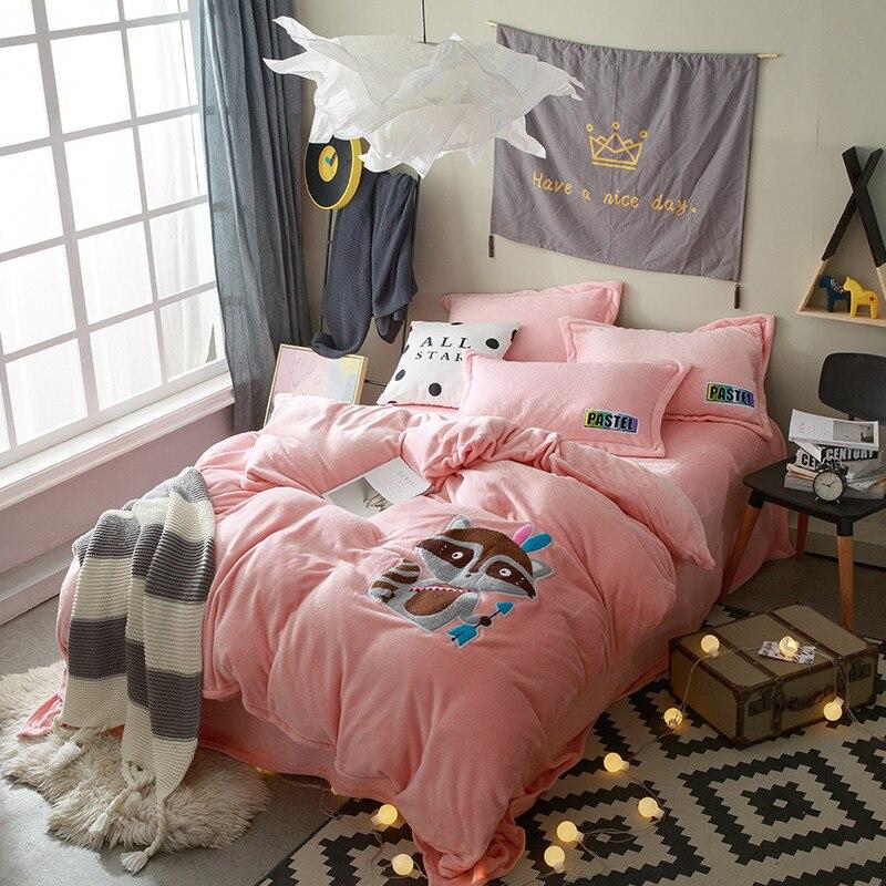 Элегантный домашний текстиль Постельные принадлежности 4 шт. Постельные покрывала наволочка Стёганое одеяло крышка здоровый