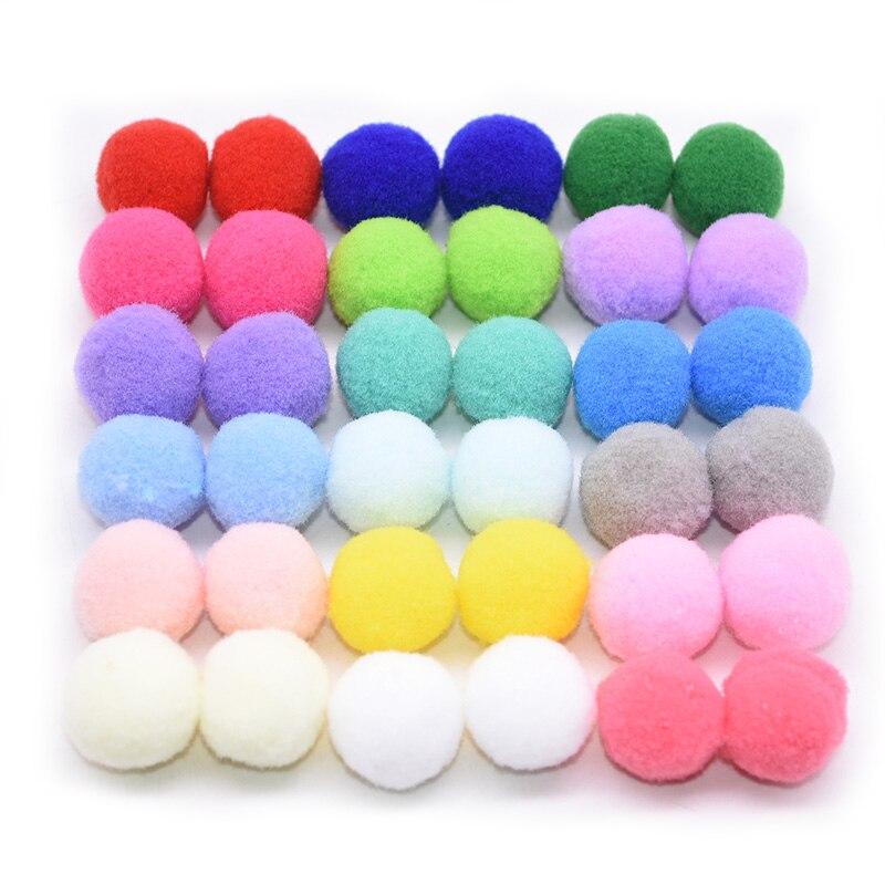 15mm/20mm/25mm Fluffy Soft Pom Poms Pompoms Ball Handmade Kids Toys DIY Dolls Garment Handmade Material Sewing Craft Supplies