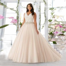 SexeMara Custom Made V-neck Ball Gown Wedding Dress Gowns