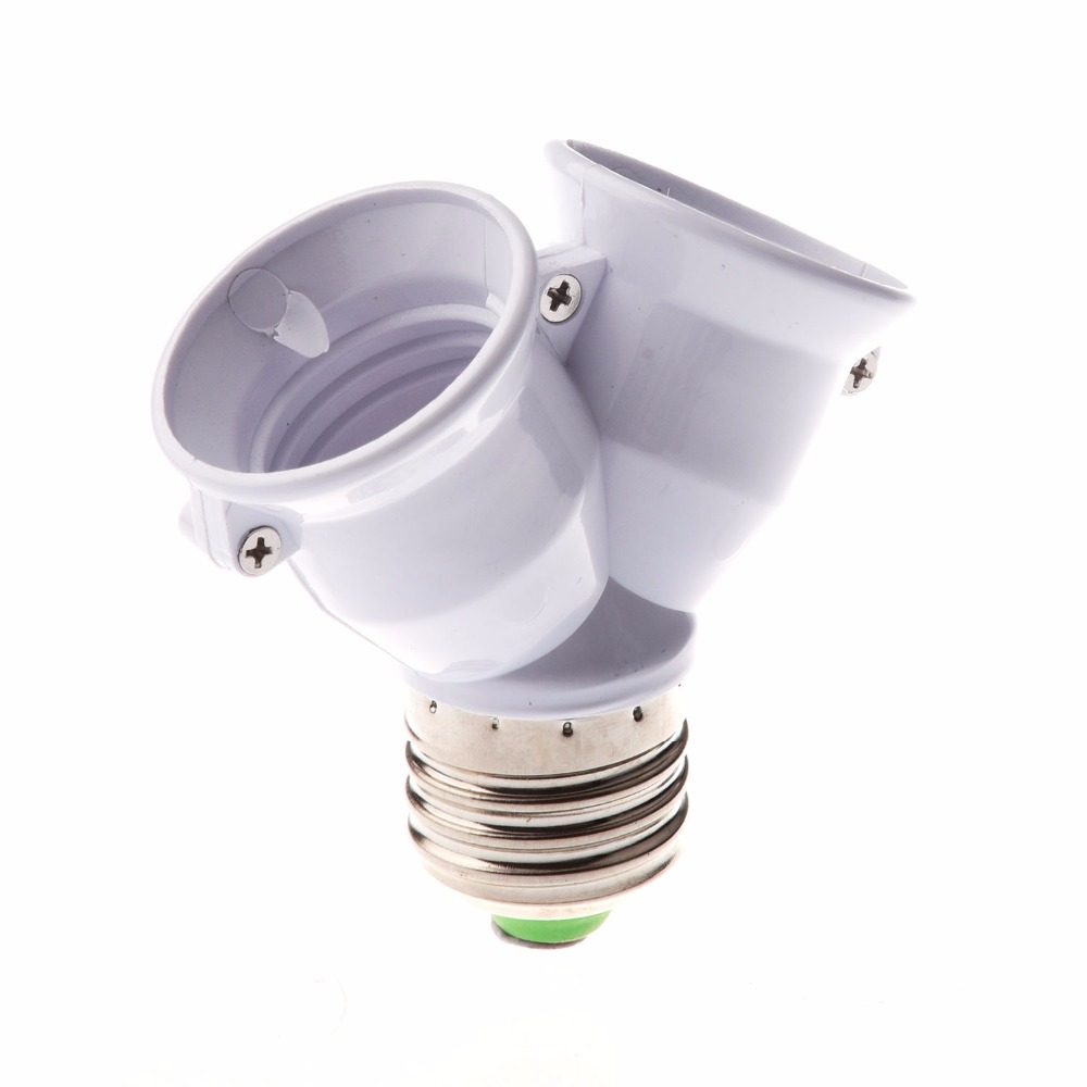 NEW Fireproof Material 27 Lamp Holder E27 To 2 E27 LED Y Shape Light Lamp Bulb Splitter Adapter Converter