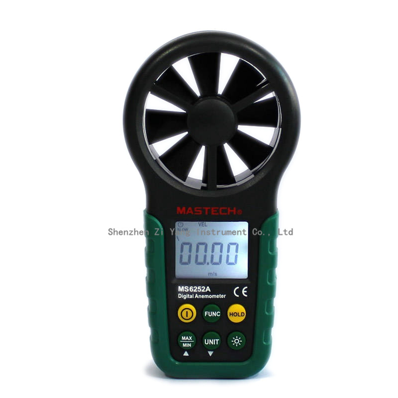 MASTECH MS6252A Handheld Digital Anemometer Wind Speed Meter Air Flow Tester with Bar Graph FREE SHIPPING az8904 handheld digital anemometer wind speed meter wind speed tester electronic measuring instruments air volume meter