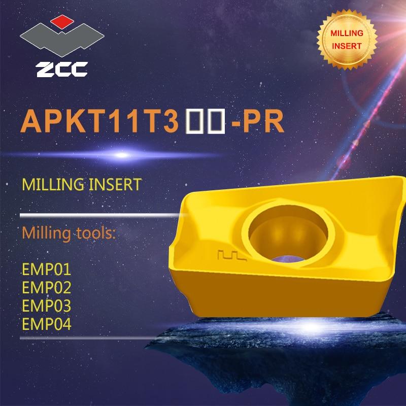 10pcs lot milling inserts APKT APKT11T304 16 for milling cutters EMP carbide inserts for light load