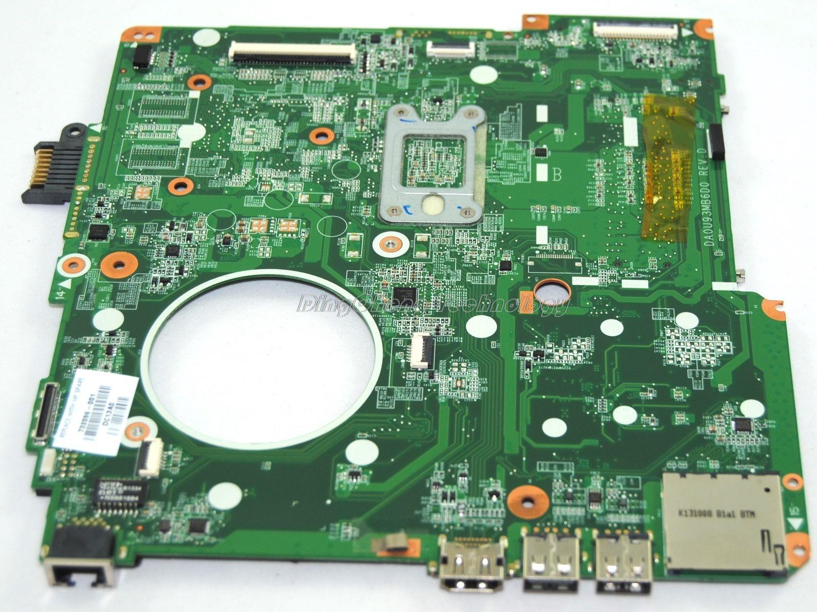 SHELI laptop Motherboard For hp 15Z 15-N 734826-501 da0u93mb6d0 A4-5000 CPU with integrated graphics card 100% fully tested OK