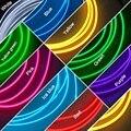 Vermelho/Amarelo/Verde/Azul/Rosa/Branco 5 M Flexível Moulding EL Neon Glow Corda Iluminação tira Com Fin Para Decoração Car # CA4635