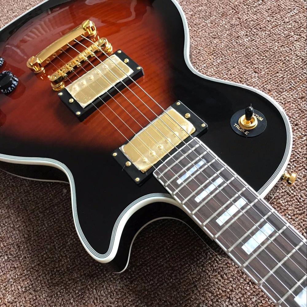 New arrive Custom Shop sunburst top CUSTOM Electric Guitar Real photo shows