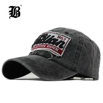 [FLB] gorra de béisbol lavada de mezclilla para mujeres, Gorras de marca de papá con hueso para hombres, Gorras de Hip hop con bordado a la moda, Gorras Vintage 2018 F113