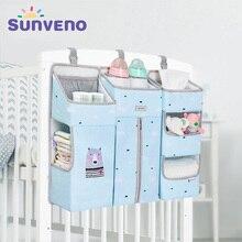 SUNVENO แบบพกพาเด็ก Crib Organizer ที่แขวนกระเป๋าสำหรับทารก Essentials ผ้าอ้อม Cradle กระเป๋าชุดเครื่องนอน