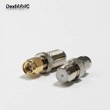1PC SMA-F Coax adapter F  Female Jack   to  SMA  Male Plug  RF convertor  Straight   NEW wholesale