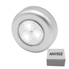 ANYIGE 3 LED Mini Touch Light Night Lights Wireless Stick-on Cabinet Lights Outdoor Car Lamp Hanging Wall Lamps Kitchen Wardrobe