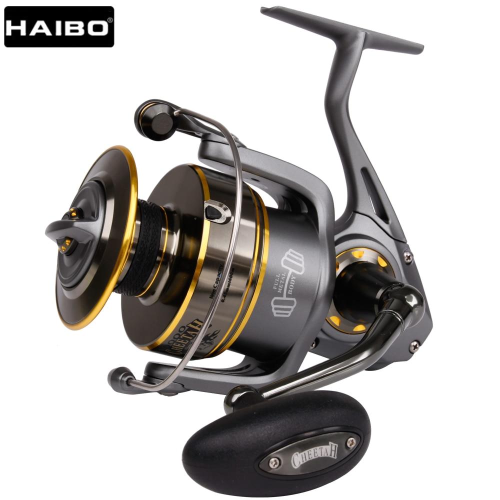 US $74 0 50% OFF|Haibo Professional Saltwater Spinning Fishing Reel 5000  6000 7000 8000 9000 7BB 4 9:1 Surf Casting Reel Trolling Jigging Wheel-in