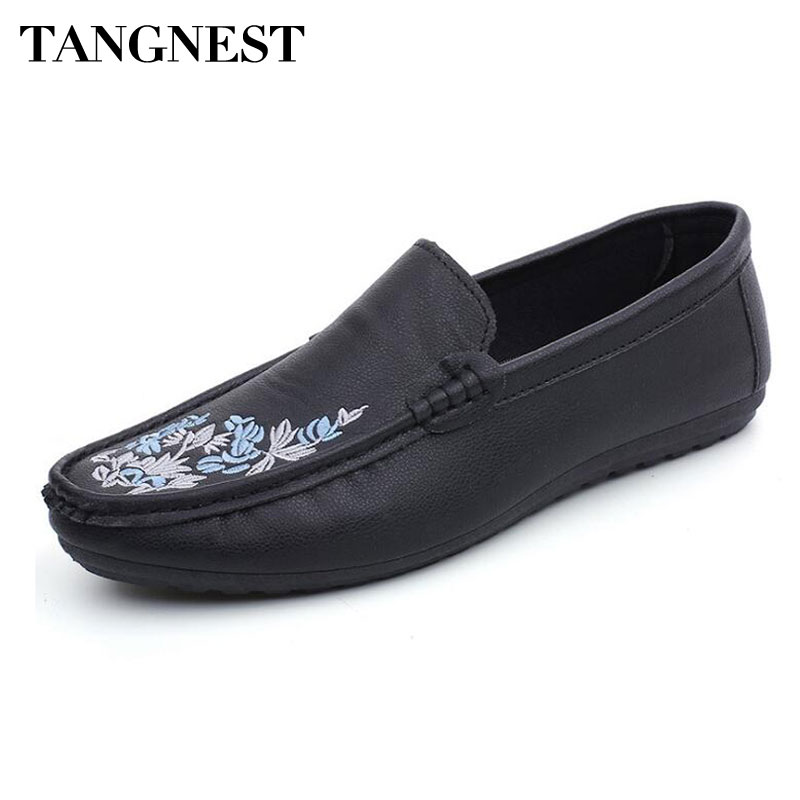 Tangnest Men Loafers Moccasins Flats Driving-Shoes Comfortable Casual Summer NEW Toe