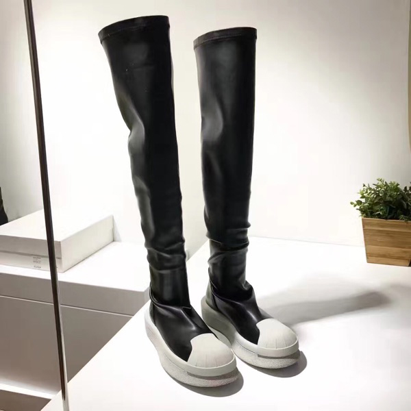 ФОТО women's boats shell head knee boots autumn winter female high boots stovepipe stretch boots knee boots for women