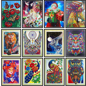 5d Kristal şekilli Elmas Boyama Renkli özel şekil Elmas El Sanatları