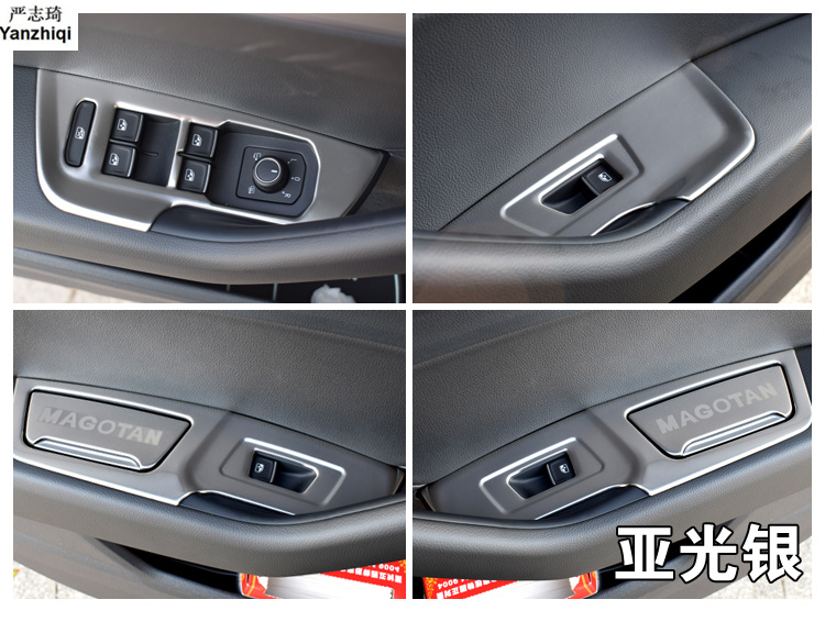 6pcs/lot Glass Switch Sequins Armrest Sequins In A Car Door Car Sticker Car Styling For 2016 2017 2018 VW Volkswagen Passat B8