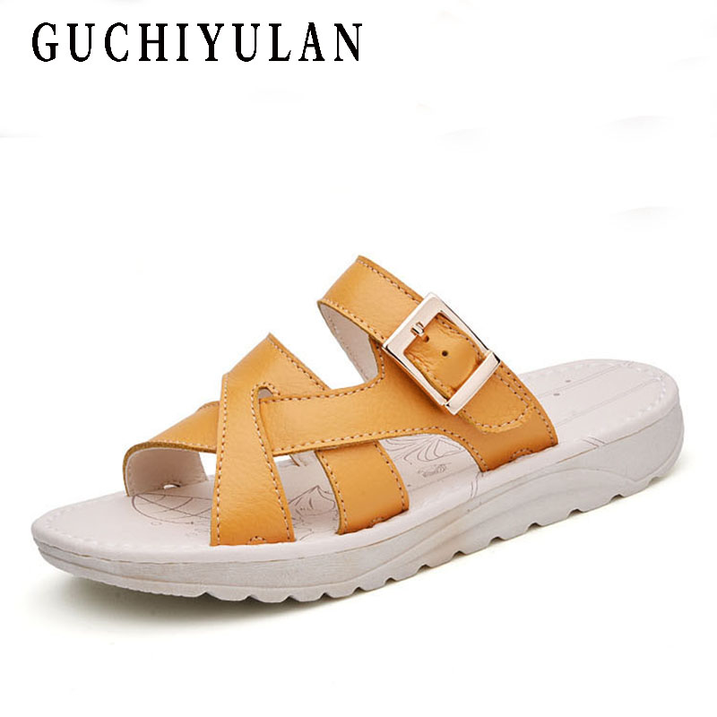 ladies shoes Handmade Hollow Genuine Leather Sandals Women Summer 2018 Comfortable sandals for women white Soft Flat Slippers artmu fashion women sandals shoes hollow breathable handmade genuine leather shoes woman beach shoe soft bottom 2018 summer new